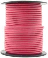 Pink Round Leather Cord 1.0mm 100 meters
