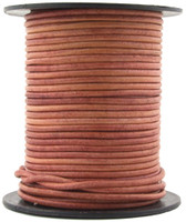 Pink Two Tone Petal Round Leather Cord 2.0mm 100 meters
