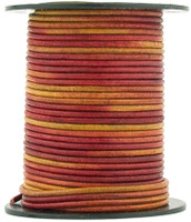 Gypsy Irasa Natural Dye Round Leather Cord 1.0mm 10 meters (11 yards)