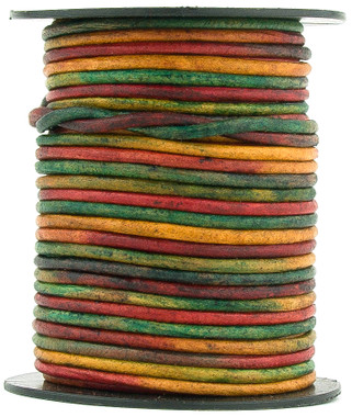 Kinte Gypsy Natural Dye Round Leather Cord 1.5mm 10 meters (11 yards)