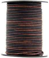 Gypsy Sippa Natural Dye Round Leather Cord 2.0mm 50 meters