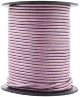 Lilac Metallic Round Leather Cord 1.0mm 10 Feet