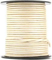 Pearl Metallic Round Leather Cord 1.0mm 25 meters