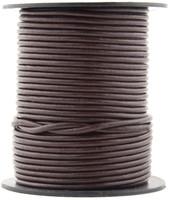 Brown Dark Round Leather Cord 1.0mm 100 meters