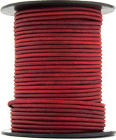 Hot Pink Natural Dye Round Leather Cord 1.0mm 100 meters