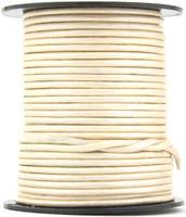 Pearl Metallic Round Leather Cord 2.0mm 10 Feet
