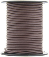 Brown Natural Dye Round Leather Cord 3.0mm 25 meters