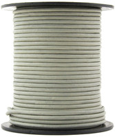 Gray Round Leather Cord 1.0mm 10 Feet