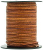 Brown Distressed Light Round Leather Cord 1.5mm 50 meters