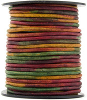 Kinte Gypsy Natural Dye Round Leather Cord 3mm, 25 meters