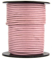 Mauve Round Leather Cord 1.0mm 50 meters