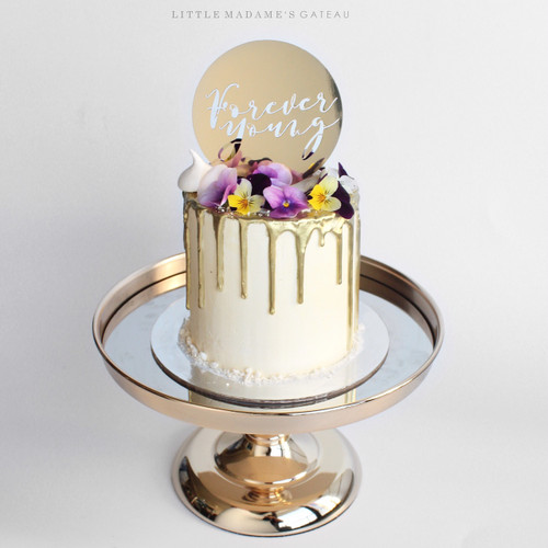 Gold Wedding Cake Letters