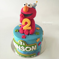 giant party elmo birthday cake