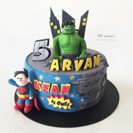 superhero kids birthday cake