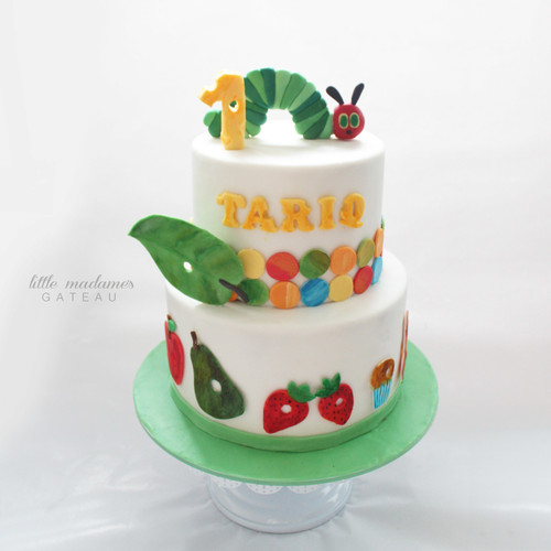 hungry caterpillar kids birthday cake