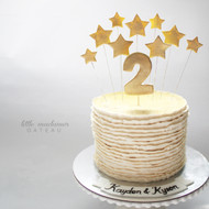 simple stars kids birthday cake