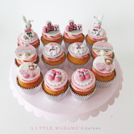 girl baby shower cupcakes set