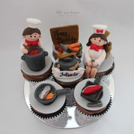 chef themed cupcakes