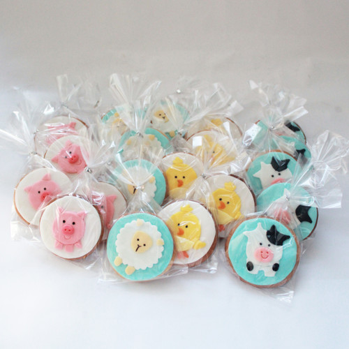 farm animals decorated cookies