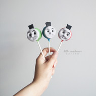 Thomas the train Cake pop