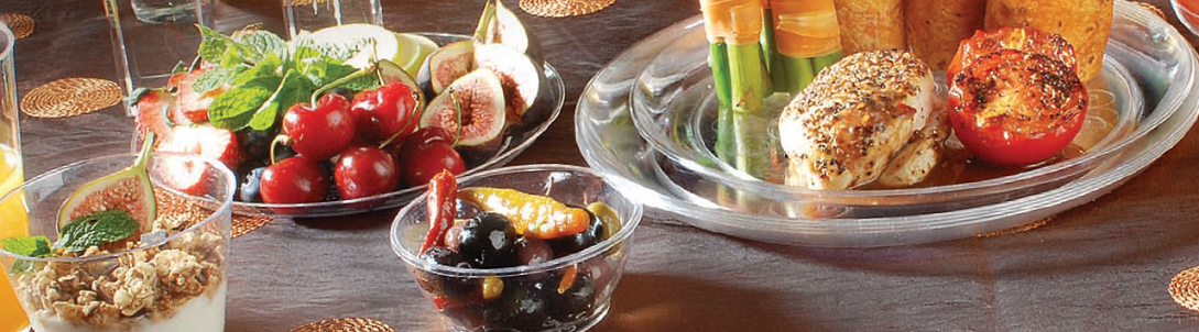 Clear Disposable Plastic Plates and Bowls