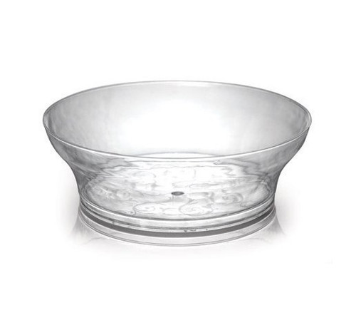 Savvi Serve clear with flowery design. Perfect for parties, dinners, or everyday use. Sold in wholesale bulk and retail.