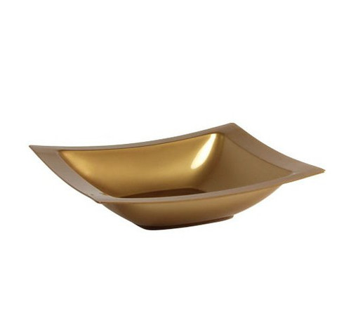 Elegant Lillian rectangle disposable plates. Perfect for a classy dinner parties or weddings. These  sc 1 st  Partytrends & Lillian 5 oz. Gold Plastic Rectangle Dessert Bowls   Gold Plastic ...