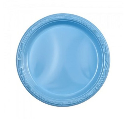 Inexpensive and cheap plastic plates. Sold in wholesale bulk and retail.  sc 1 st  Partytrends.Ca & Light Blue 7\