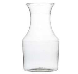 Hard disposable plastic mini wine pitchers that are perfect for weddings and other special events. Sold in retail and bulk wholesale.