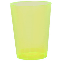 Quenchers 10 oz. Plastic Neon Yellow Tumblers