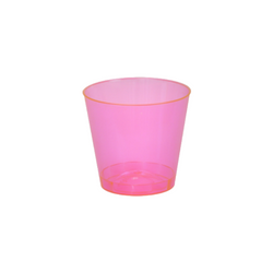 Quenchers 1 oz. Neon Pink Plastic Shot Glasses