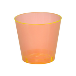 Quenchers 2 oz. Neon Orange Plastic Shot Glasses