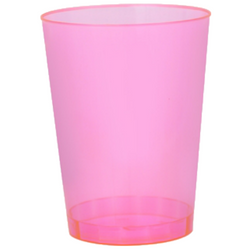 Quenchers 10 oz. Plastic Neon Pink Tumblers