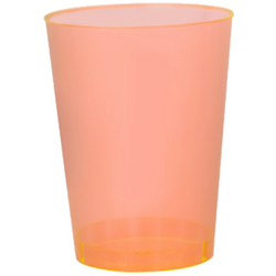 Quenchers 10 oz. Plastic Neon Orange Tumblers