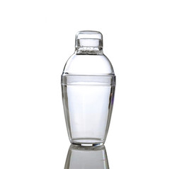 Quenchers 7 oz. Clear Plastic Cocktail Shakers