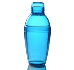 Quenchers 10 oz. Blue Plastic Cocktail Shakers