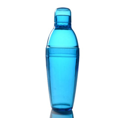 Quenchers 14 oz. Blue Plastic Cocktail Shakers