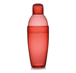 Quenchers 14 oz. Red Plastic Cocktail Shakers