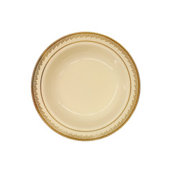 Decor China-Like Prestige 12 oz. Cream-Gold Plastic Soup Bowls