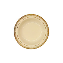Decor China-Like Prestige 5 oz. Cream-Gold Plastic Dessert Bowls