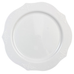 "Decor China-Like Antique White 10"" Plastic Plates"