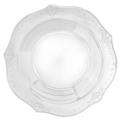 Decor China-Like Antique Clear Plastic Soup Bowls