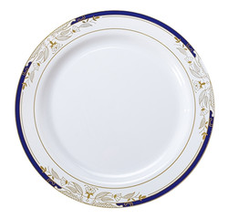 "Signature Blu China-Like 10.25"" Plastic Plates"