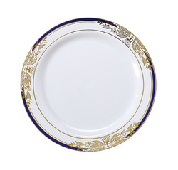"Signature Blu China-Like 7.5"" Plastic Plates"