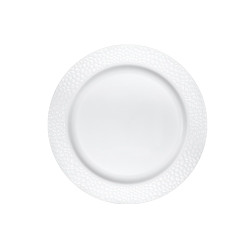"Lillian China-Like Pebbled Pearl 7"" Plastic Plates"