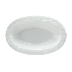 Lillian Pebbled Pearl 48 oz Clear Plastic Serving Bowls