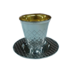 Decor Silver Plastic Wine Cups with Trays