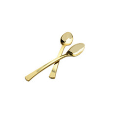 Polished Gold Mini Plastic Spoons