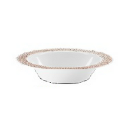 Lillian China-Like Pebbled Rose Gold 14 oz Plastic Bowls