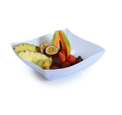 Beautiful bowls made from heavy-weight plastic. These are perfect for weddings, and other special occasions. Made from recyclable plastic and BPA free. Sold in wholesale bulk and retail